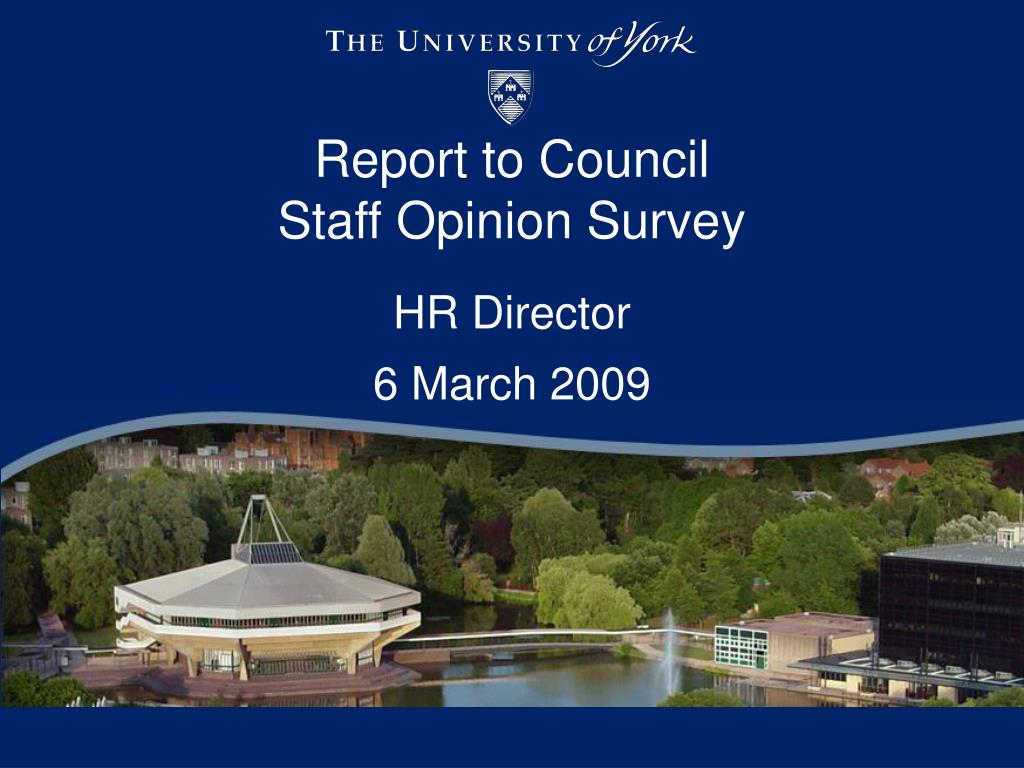 report to council staff opinion survey l.