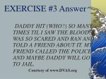 exercise 3 answer