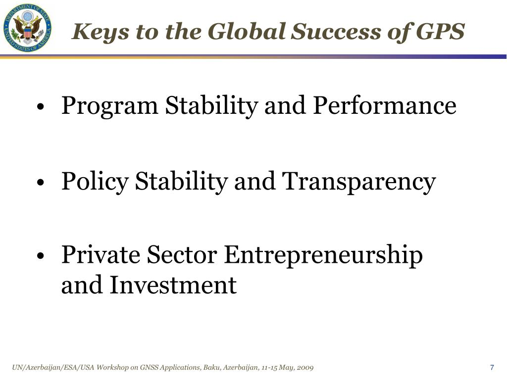 Keys to the Global Success of GPS