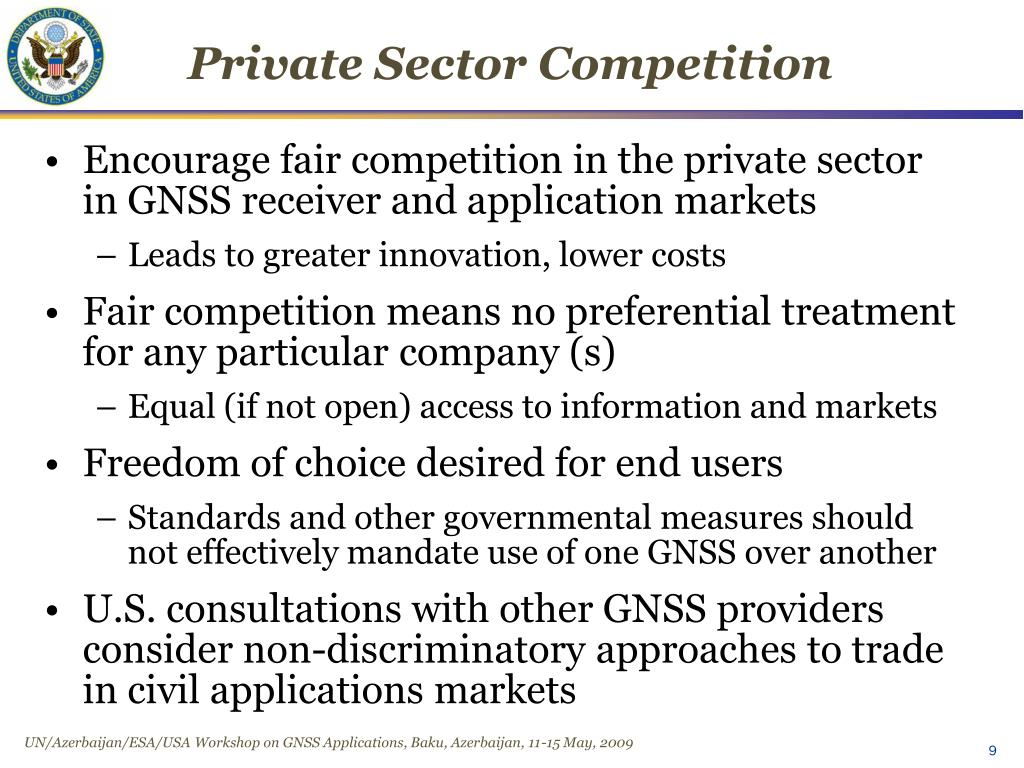 Private Sector Competition
