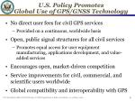 u s policy promotes global use of gps gnss technology
