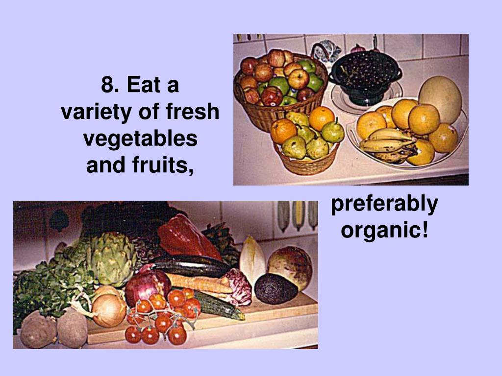 8. Variety Vegetables