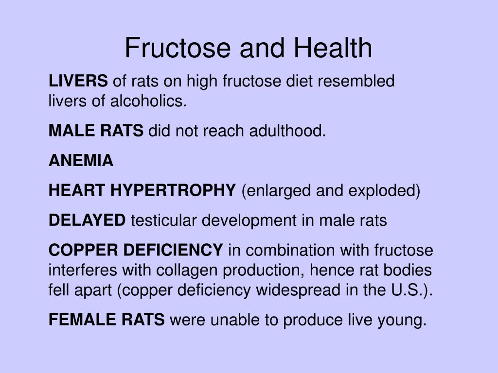 Fructose and Health
