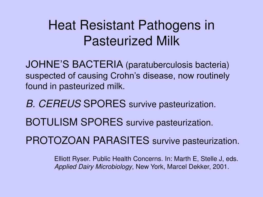 Heat Resistant Pathogens in Pasteurized Milk