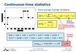 continuous time statistics