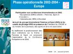 phase op rationnelle 2002 2004 europe29