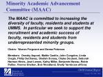 minority academic advancement committee maac