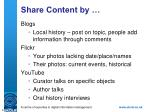 share content by