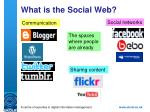 what is the social web
