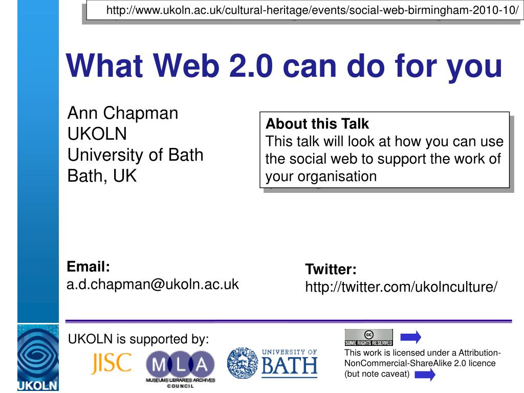 what web 2 0 can do for you l.