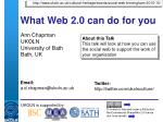 what web 2 0 can do for you