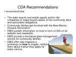 cda recommendations