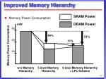 improved memory hierarchy10