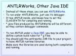 antlrworks other java ide