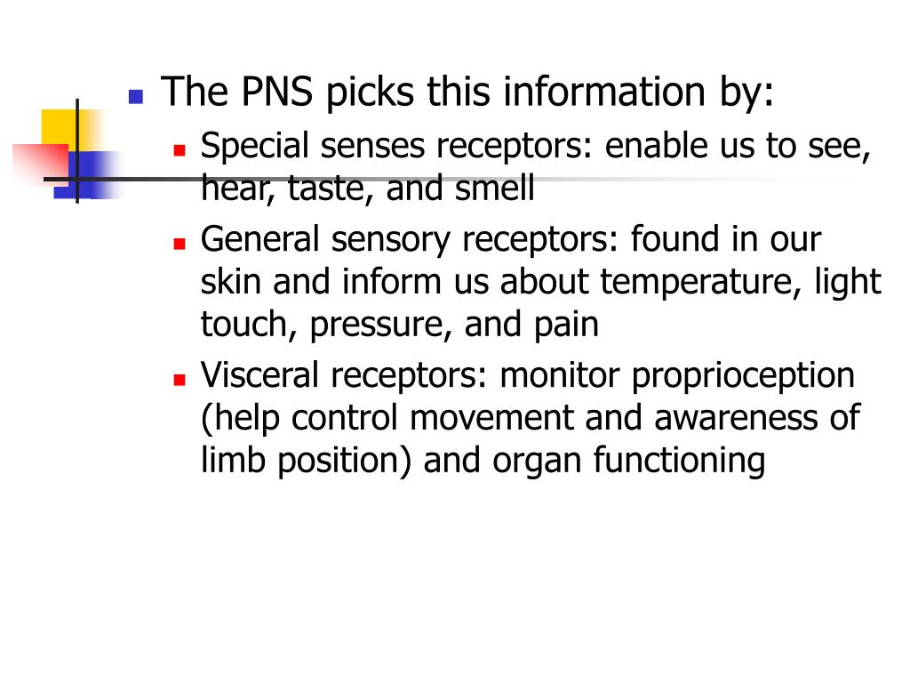 The PNS picks this information by: