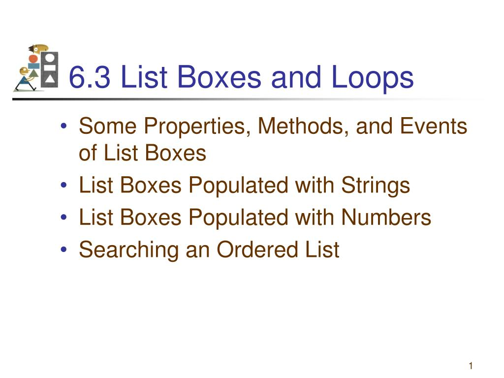 6 3 list boxes and loops l.