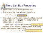 more list box properties