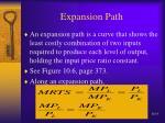 expansion path