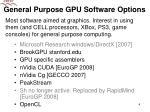 general purpose gpu software options