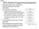 gpu genetic programming interpreter