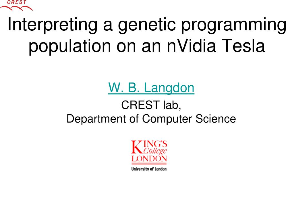 interpreting a genetic programming population on an nvidia tesla l.