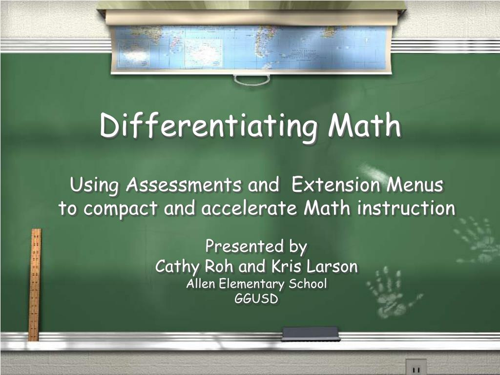 differentiating math l.