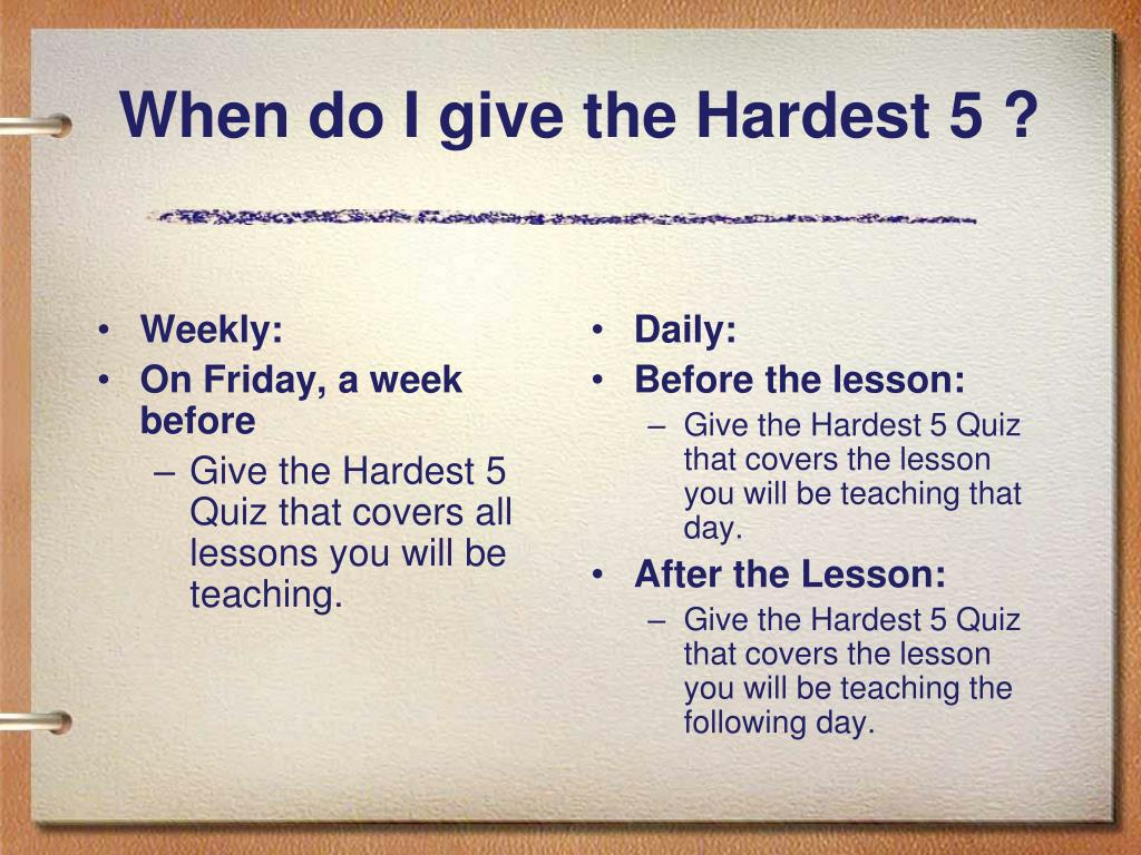 Weekly: