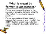 what is meant by formative assessment