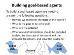 building goal based agents