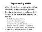 representing states
