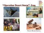 operation desert storm iraq