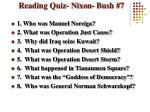 reading quiz nixon bush 7