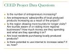 ceed project data questions