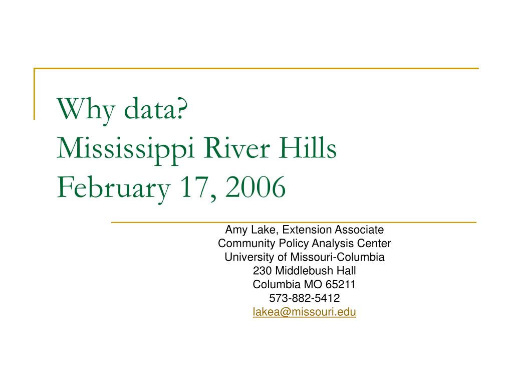 why data mississippi river hills february 17 2006 l.