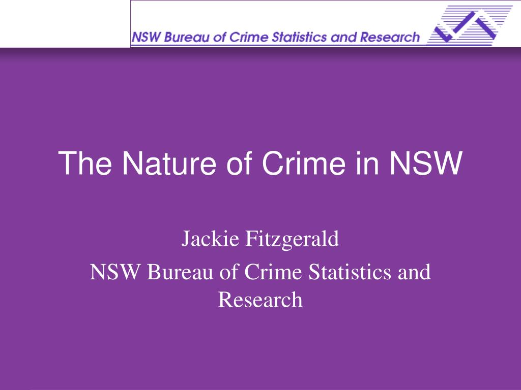 the nature of crime in nsw l.