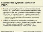parameterized synchronous dataflow psdf