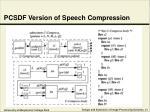pcsdf version of speech compression