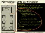 psdf example cd to dat conversion