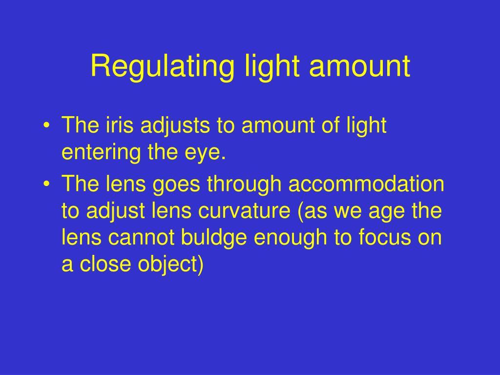 Regulating light amount