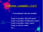 cohesion examples 1 of 3