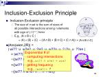 inclusion exclusion principle