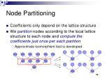 node partitioning