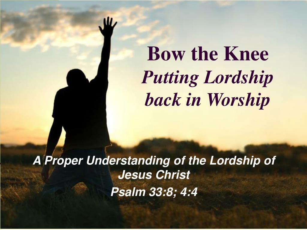 bow the knee putting lordship back in worship l.