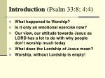introduction psalm 33 8 4 4