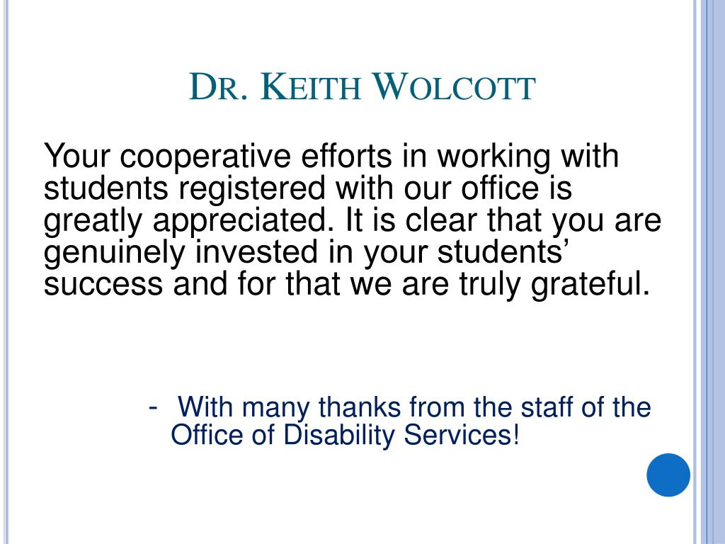 Dr. Keith Wolcott