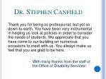 dr stephen canfield