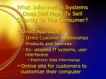 what information systems does dell need to sell directly to the consumer