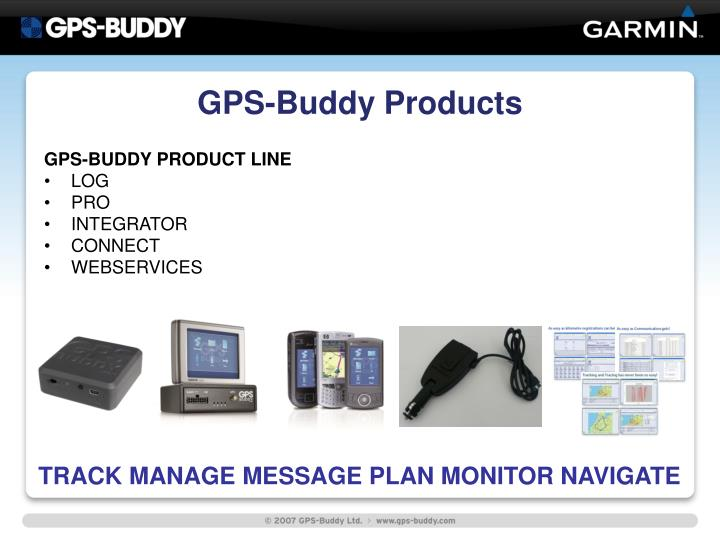 Gps buddy products