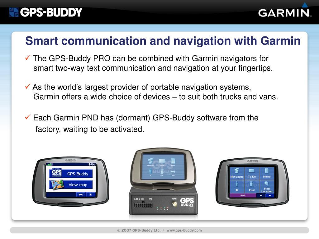 Smart communication and navigation with Garmin