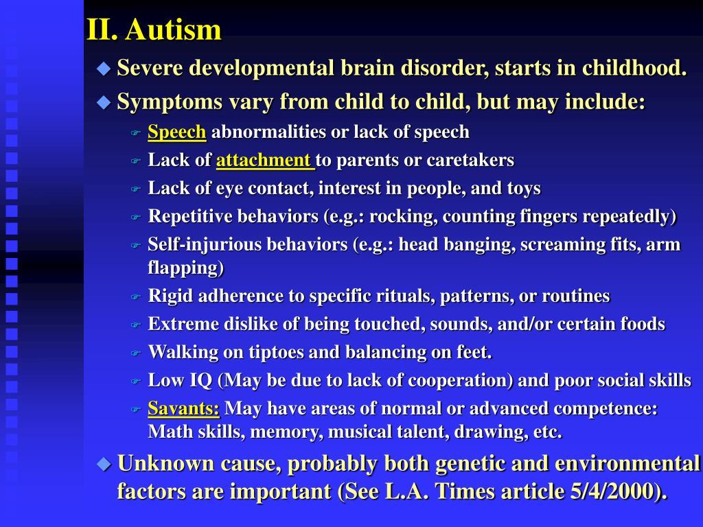 II. Autism